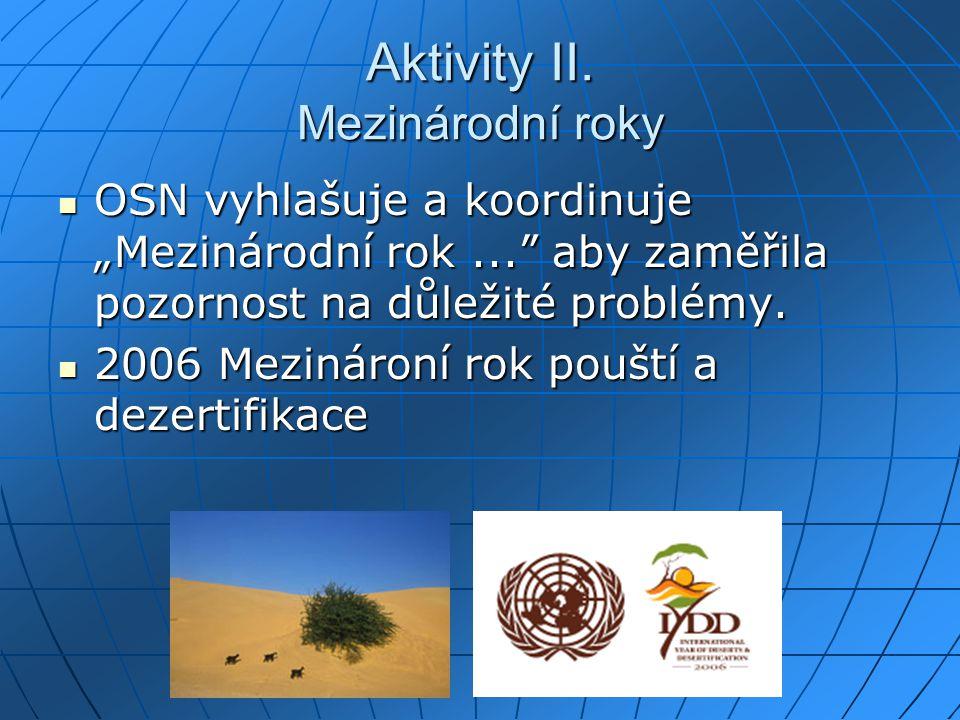 Aktivity II. Mezinárodní roky