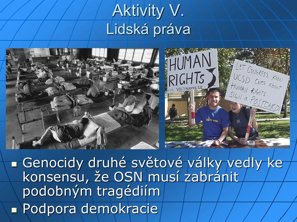 Aktivity V. Lidská práva