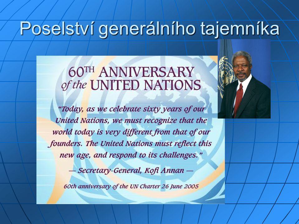 Poselství generálního tajemníka