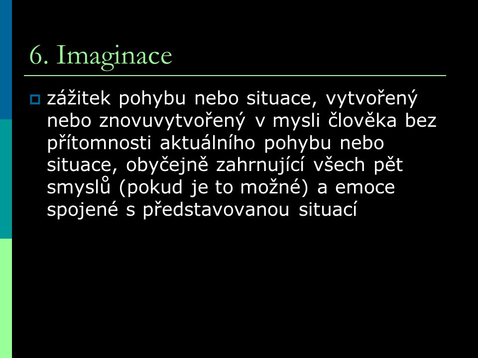 6. Imaginace