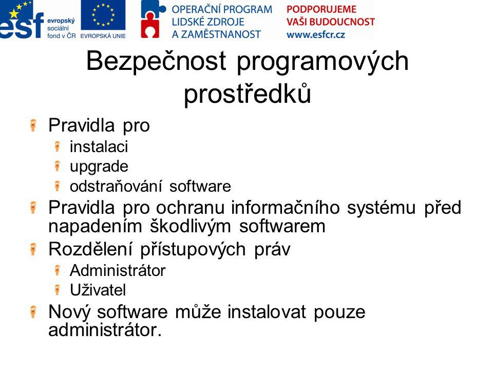 Bezpečnost programových prostředků