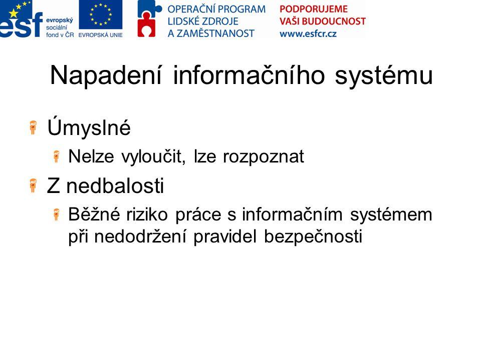 Napadení informačního systému