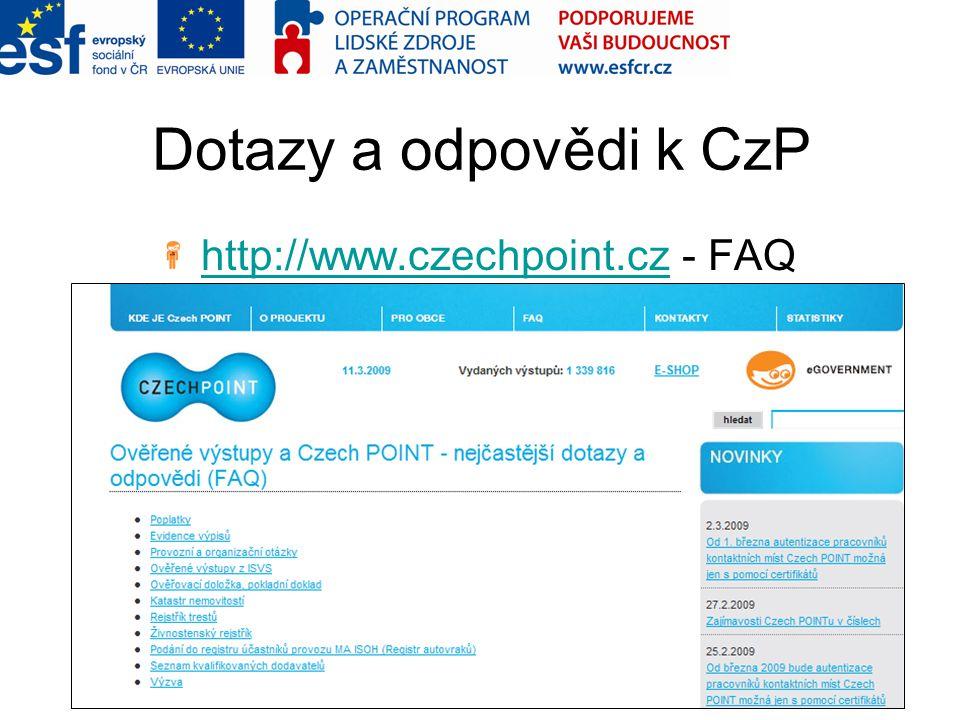 http://www.czechpoint.cz - FAQ