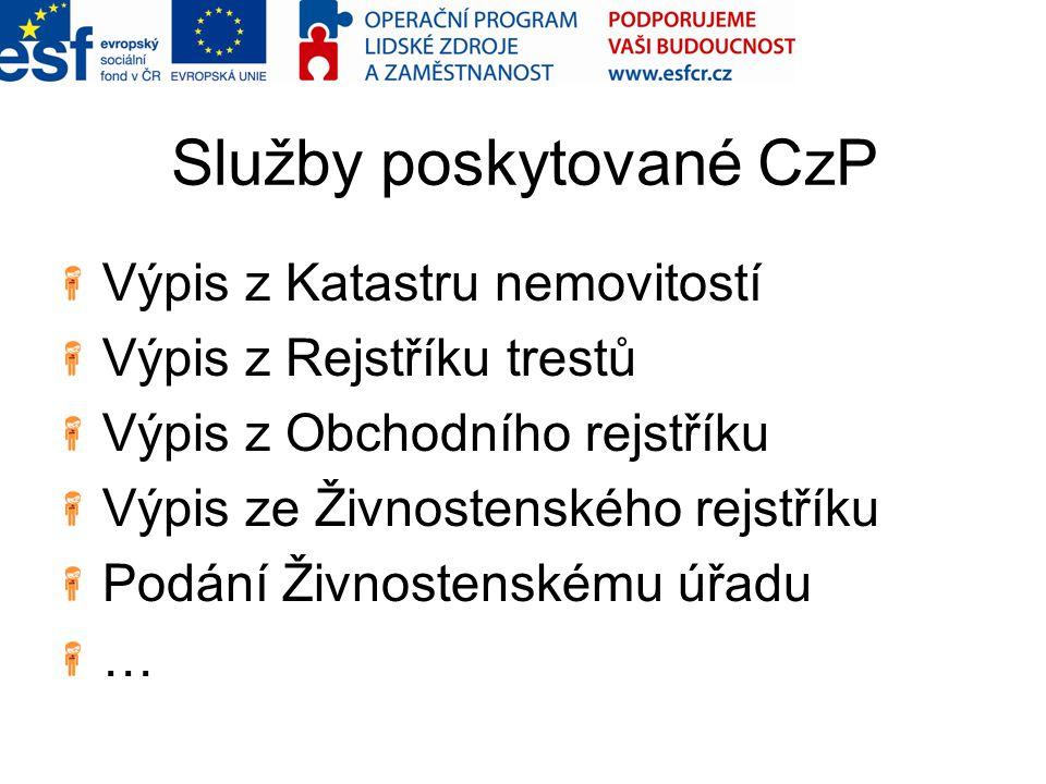 Služby poskytované CzP