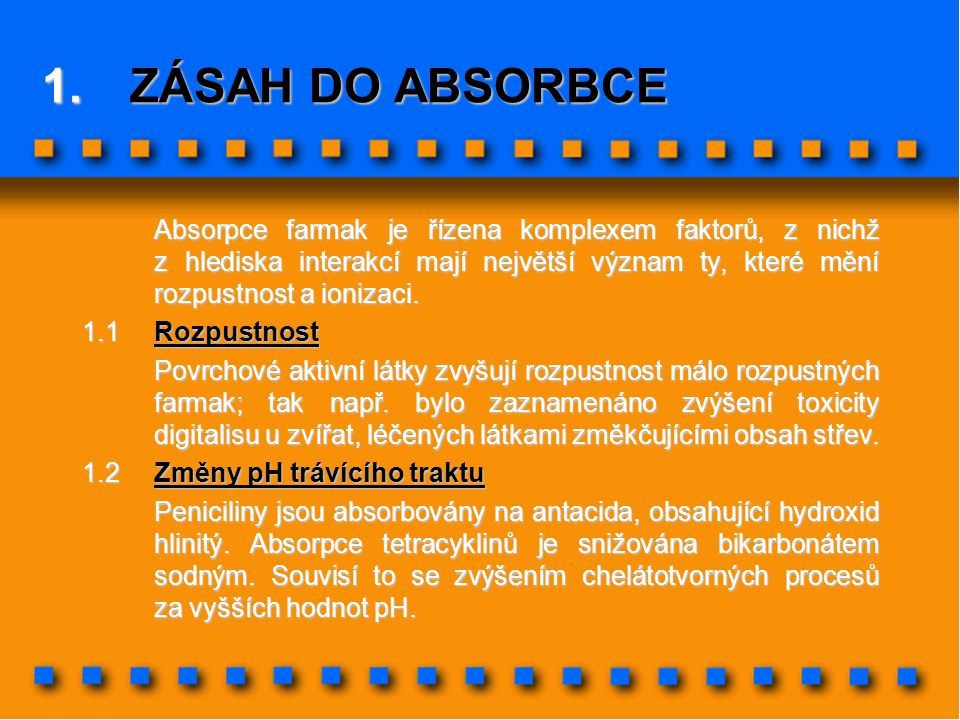 ZÁSAH DO ABSORBCE