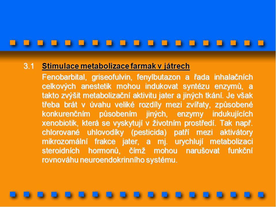 3.1 Stimulace metabolizace farmak v játrech