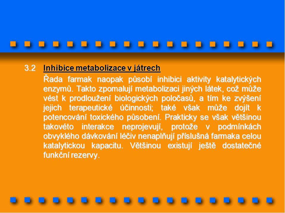 3.2 Inhibice metabolizace v játrech