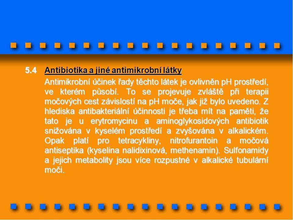5.4 Antibiotika a jiné antimikrobní látky