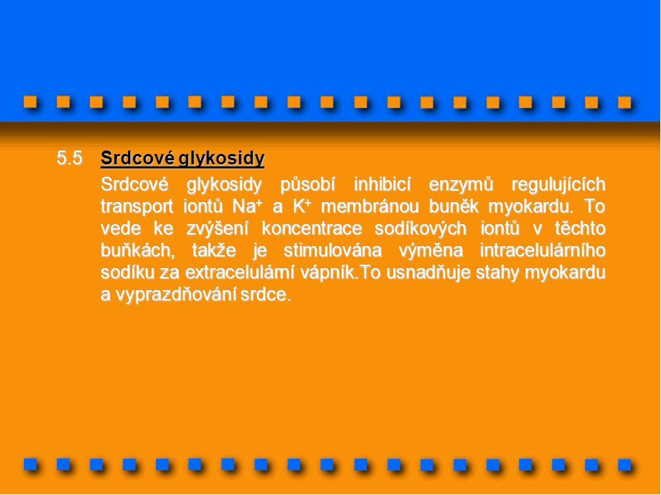 5.5 Srdcové glykosidy