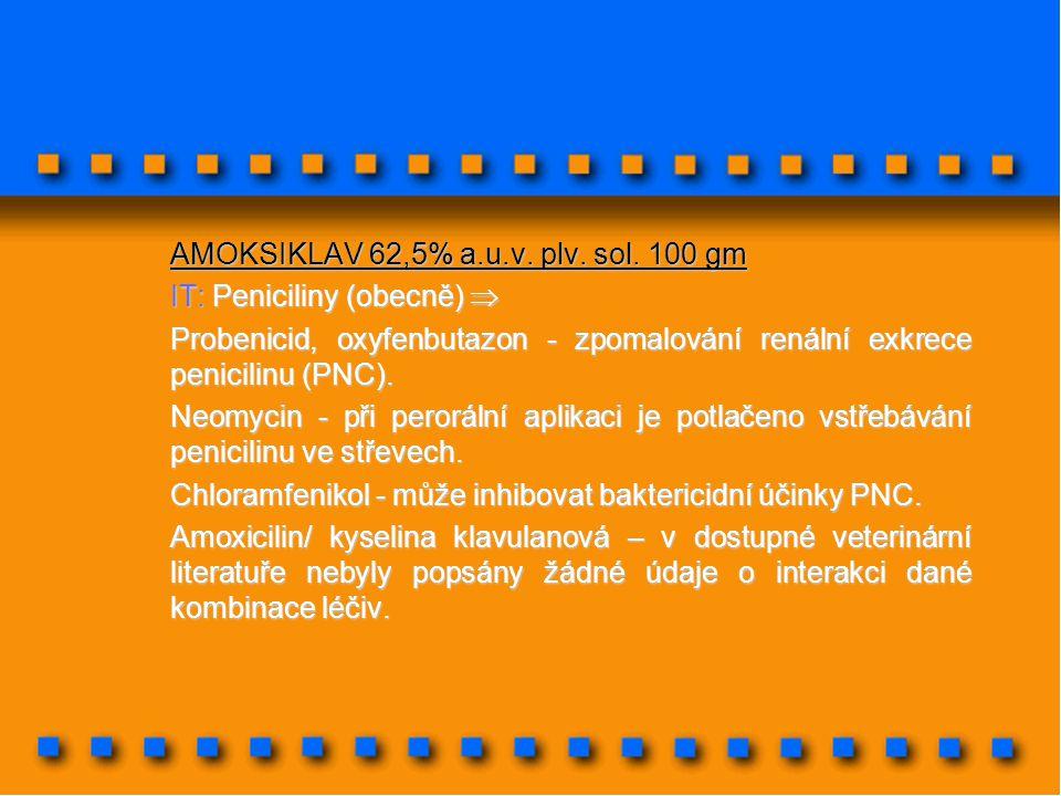 AMOKSIKLAV 62,5% a.u.v. plv. sol. 100 gm
