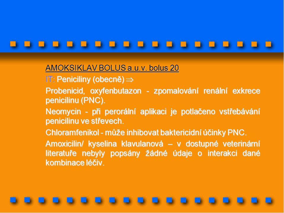 AMOKSIKLAV BOLUS a.u.v. bolus 20