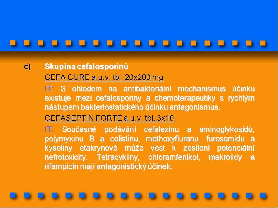 Skupina cefalosporinů