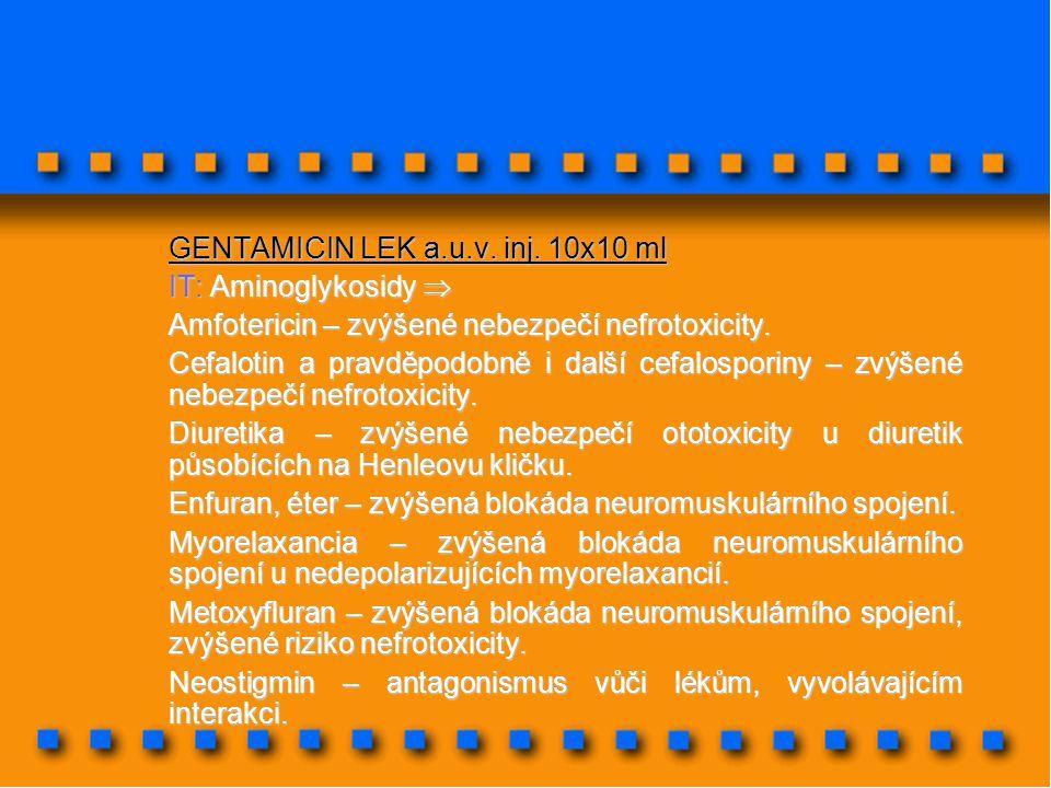 GENTAMICIN LEK a.u.v. inj. 10x10 ml
