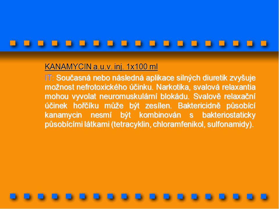 KANAMYCIN a.u.v. inj. 1x100 ml
