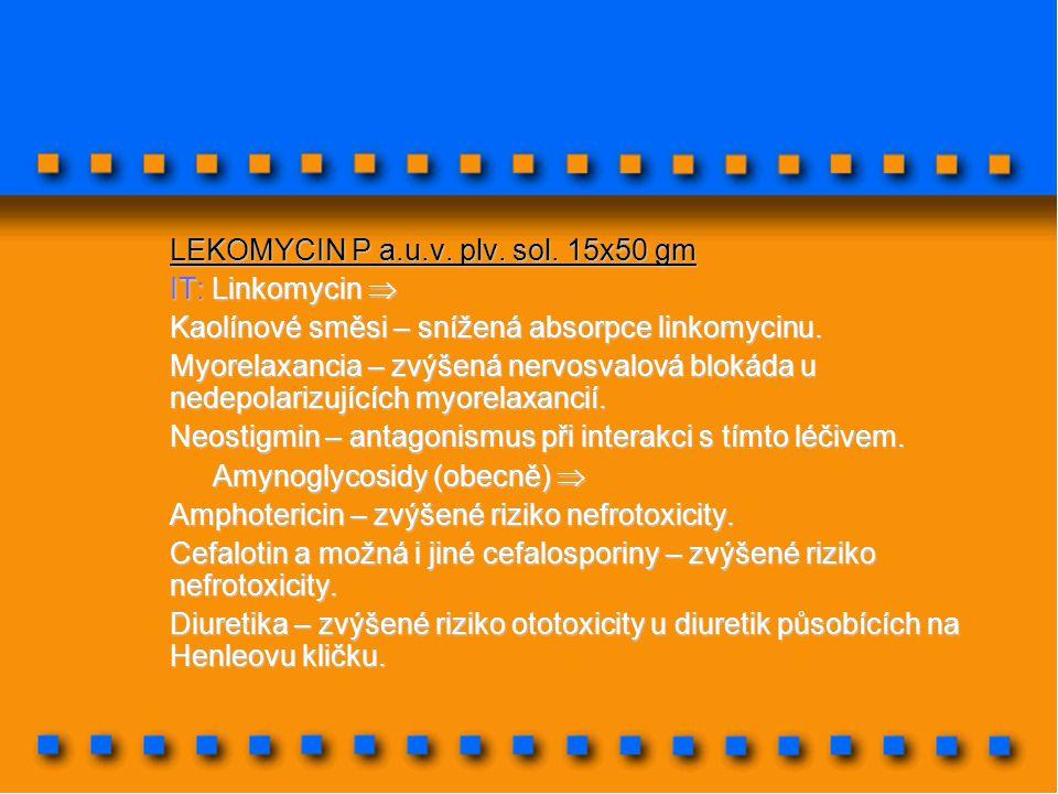 LEKOMYCIN P a.u.v. plv. sol. 15x50 gm