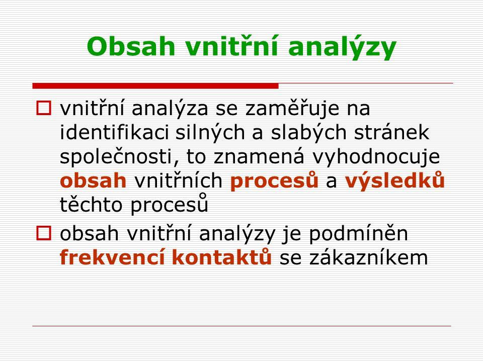 Obsah vnitřní analýzy