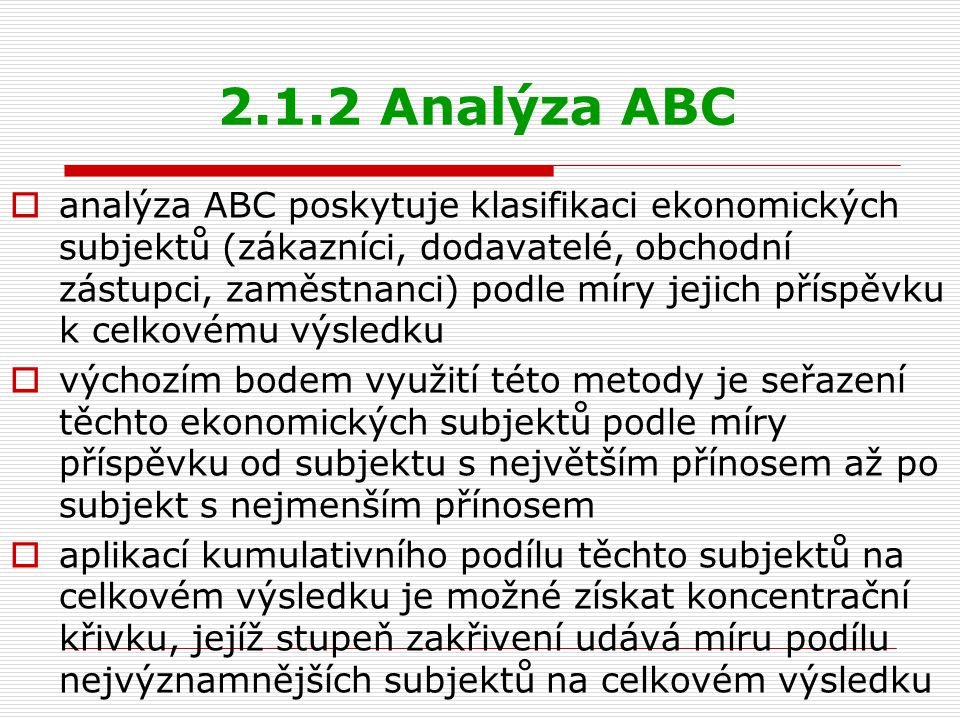 2.1.2 Analýza ABC