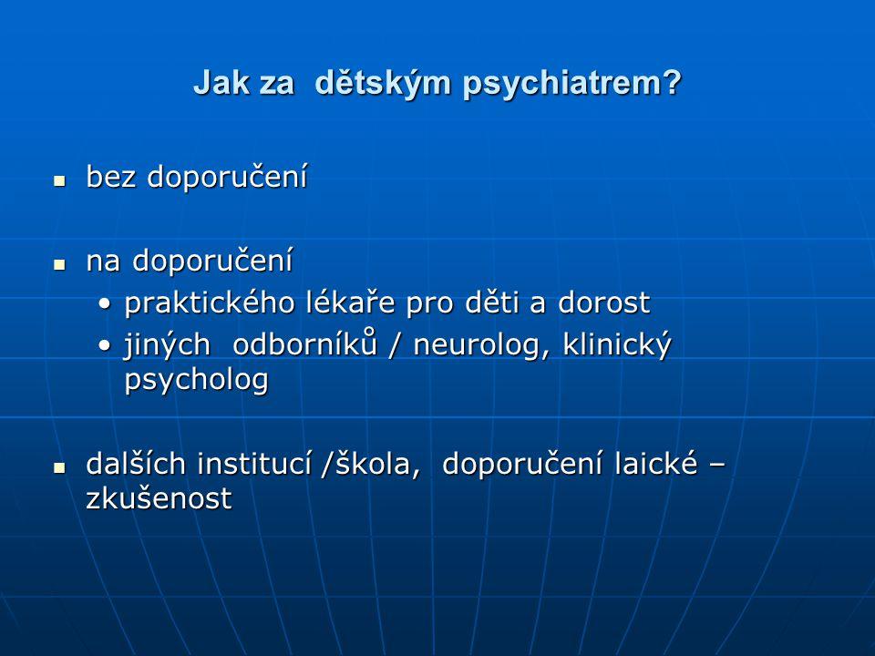 Jak za dětským psychiatrem
