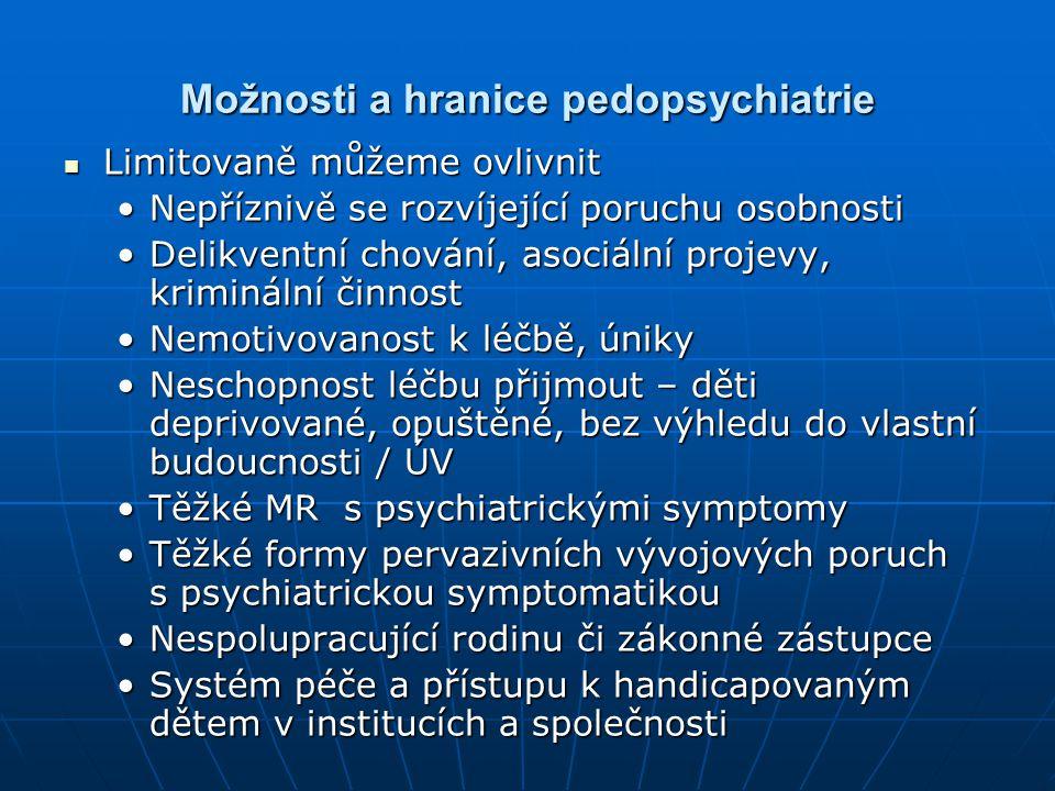 Možnosti a hranice pedopsychiatrie