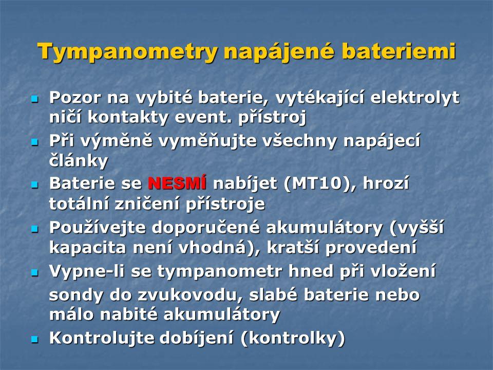 Tympanometry napájené bateriemi