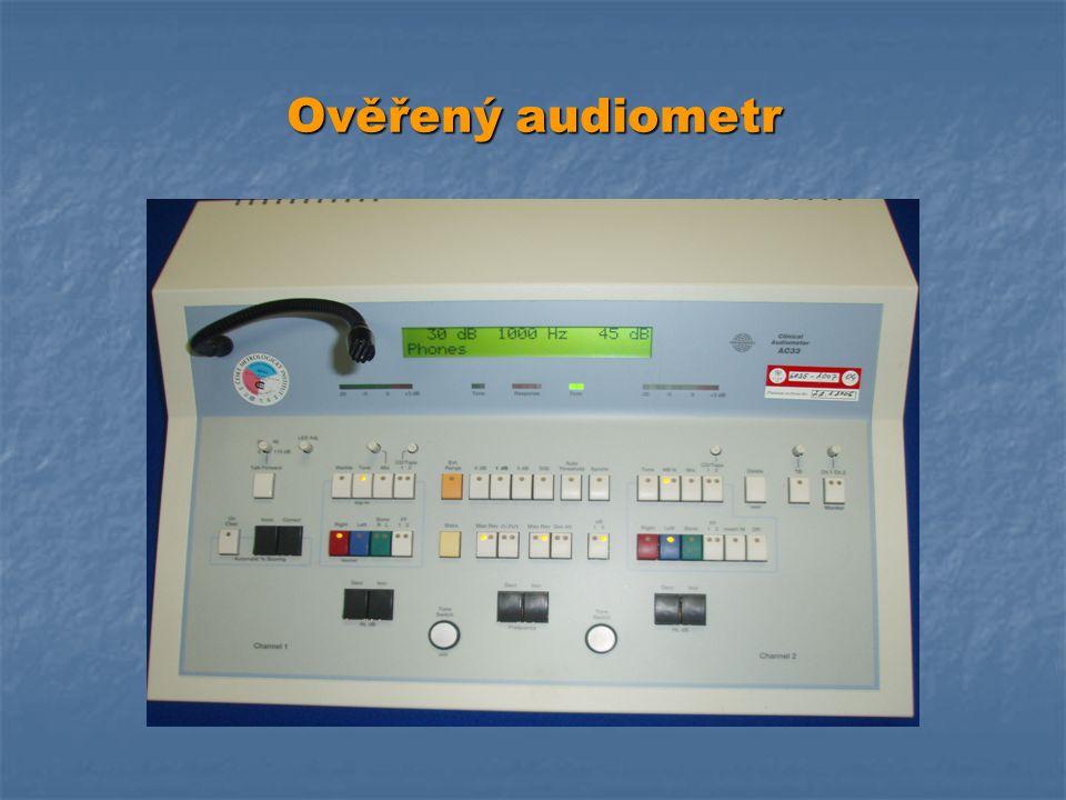 Ověřený audiometr
