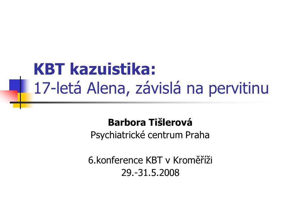 KBT kazuistika: 17-letá Alena, závislá na pervitinu