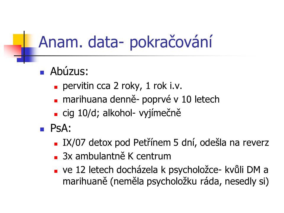 Anam. data- pokračování