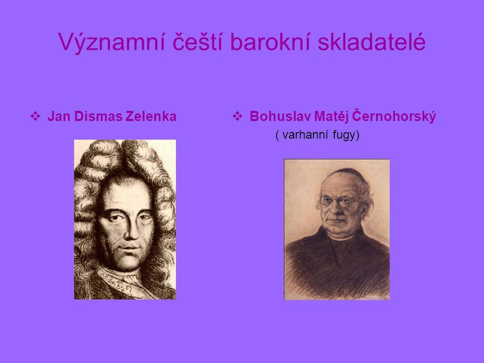 Významní čeští barokní skladatelé