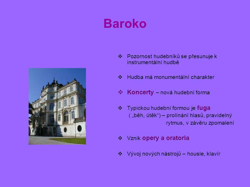 Baroko Koncerty – nová hudební forma