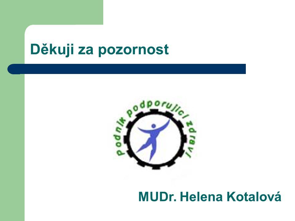 Děkuji za pozornost MUDr. Helena Kotalová