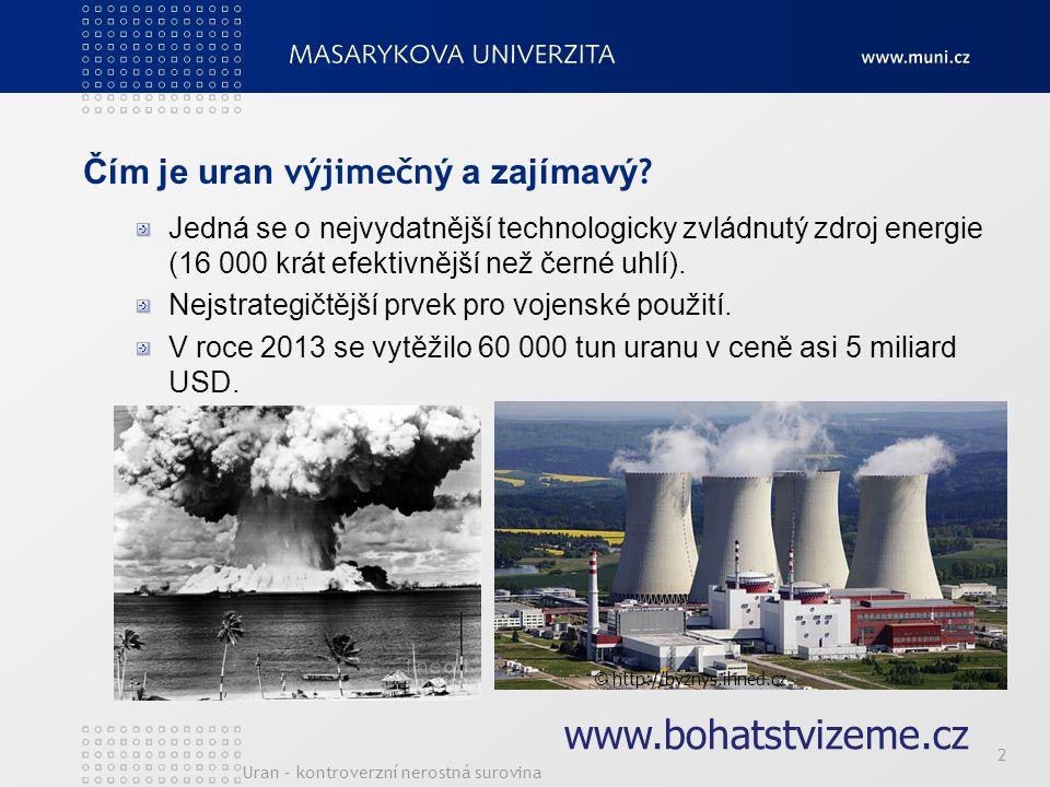 Čím je uran výjimečný a zajímavý