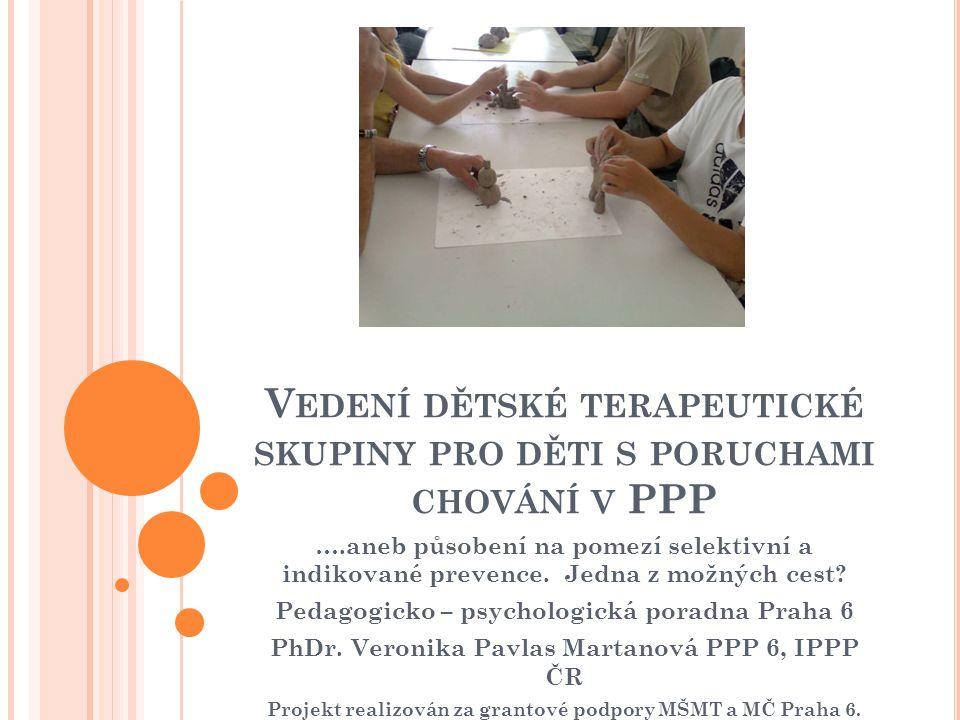 Vedení dětské terapeutické skupiny pro děti s poruchami chování v PPP