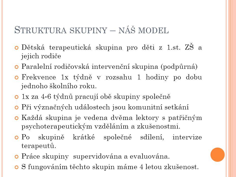 Struktura skupiny – náš model