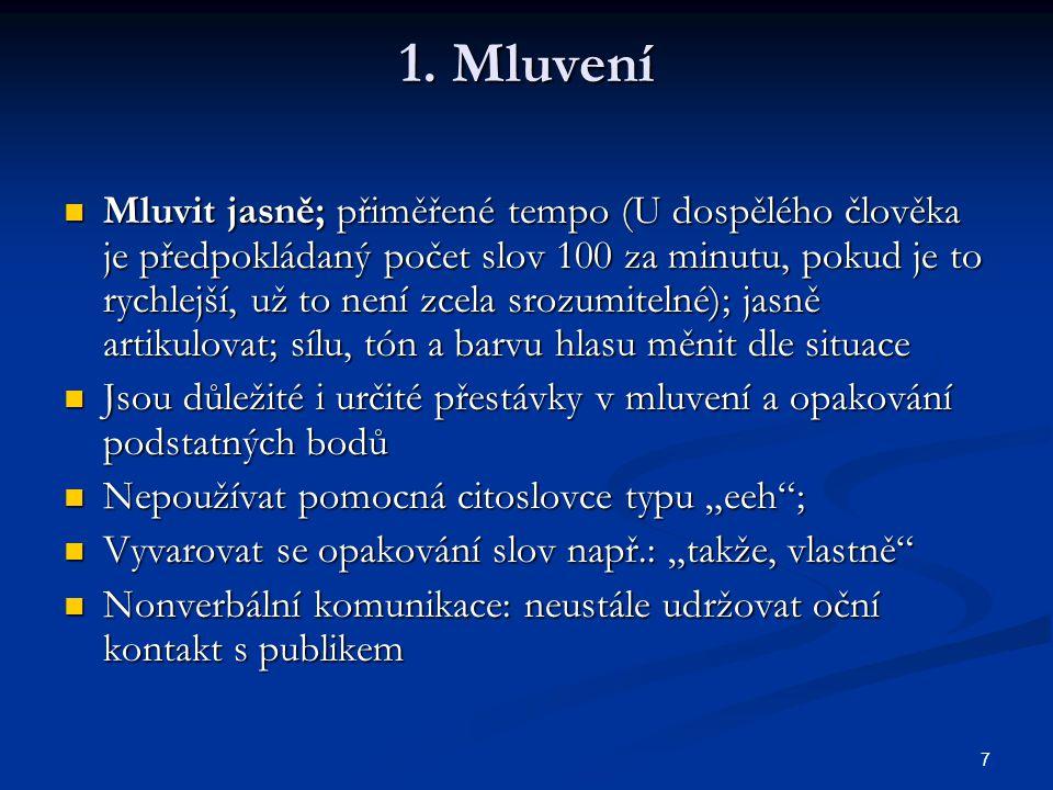 1. Mluvení