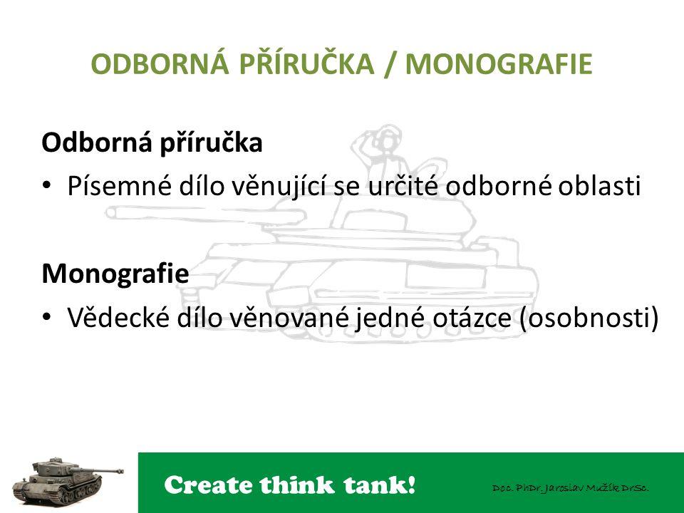 ODBORNÁ PŘÍRUČKA / MONOGRAFIE