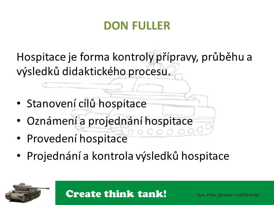 DON FULLER Hospitace je forma kontroly přípravy, průběhu a