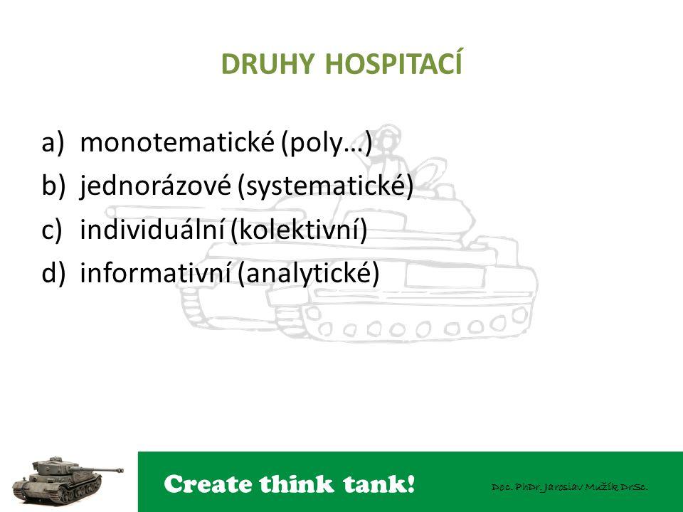DRUHY HOSPITACÍ monotematické (poly…) jednorázové (systematické)