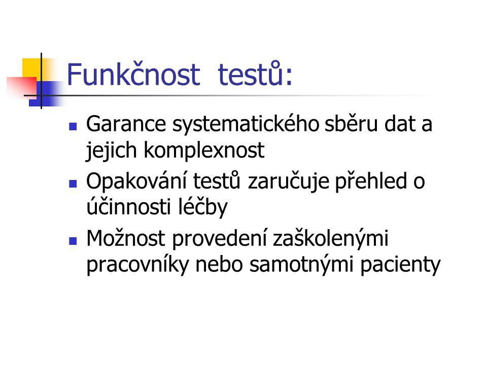 Funkčnost testů: Garance systematického sběru dat a jejich komplexnost