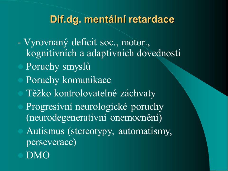 Dif.dg. mentální retardace