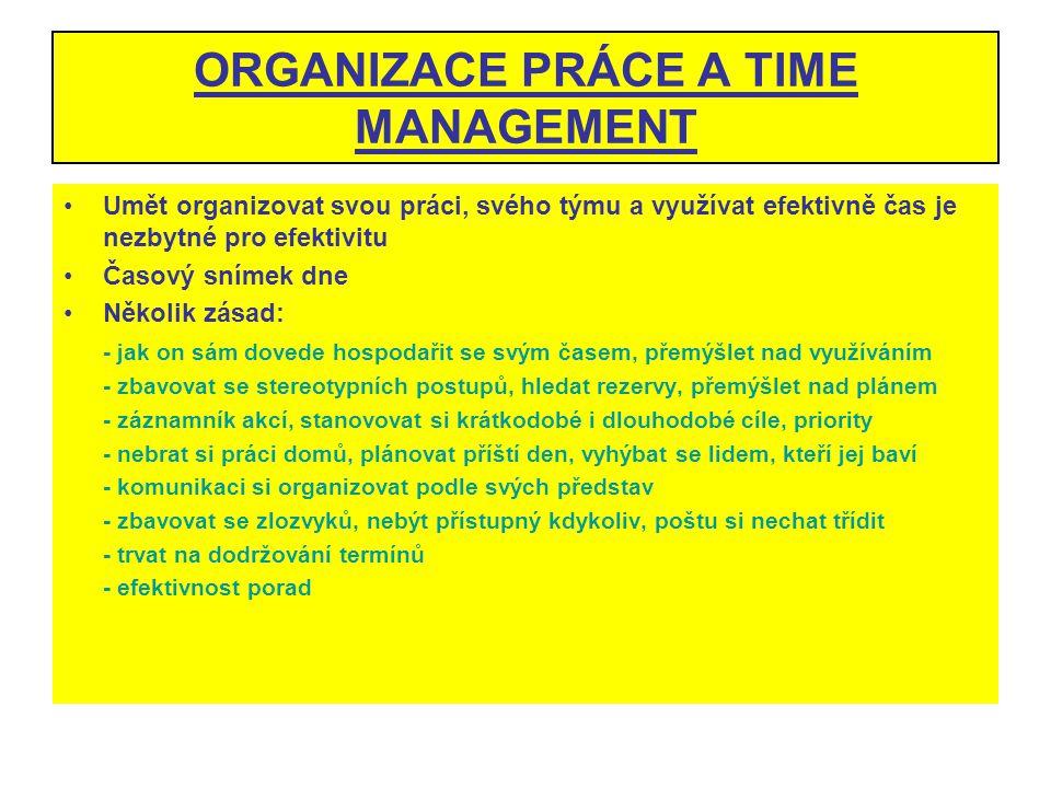 ORGANIZACE PRÁCE A TIME MANAGEMENT