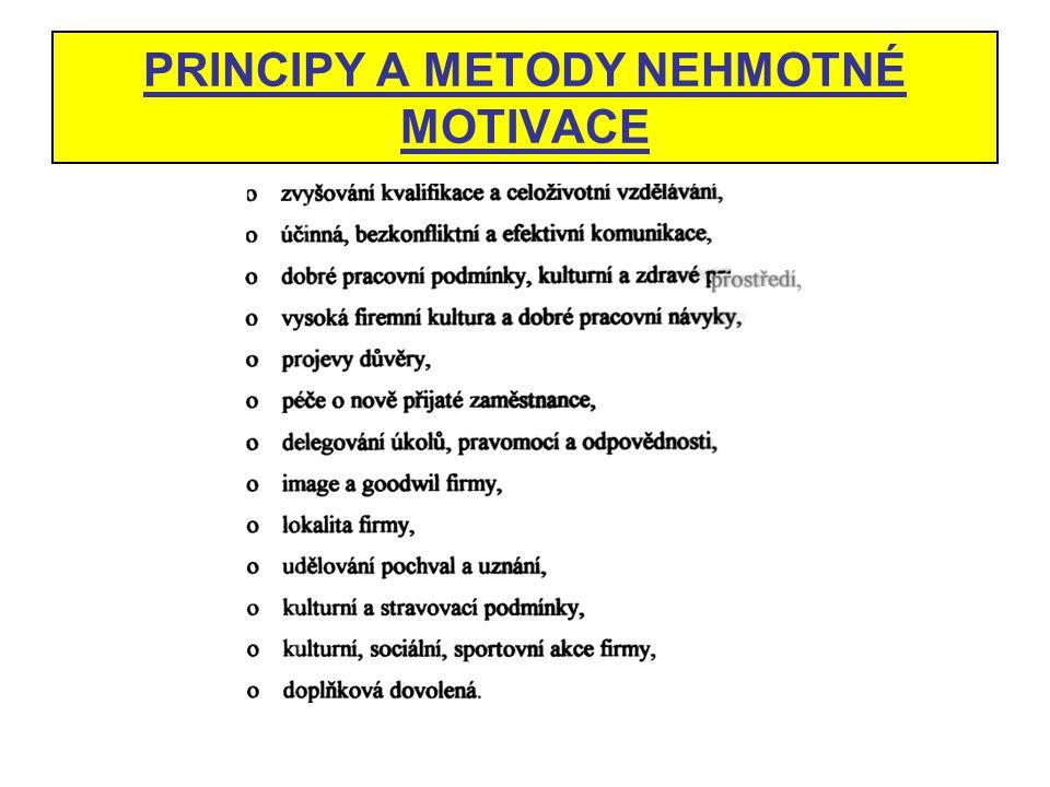 PRINCIPY A METODY NEHMOTNÉ MOTIVACE