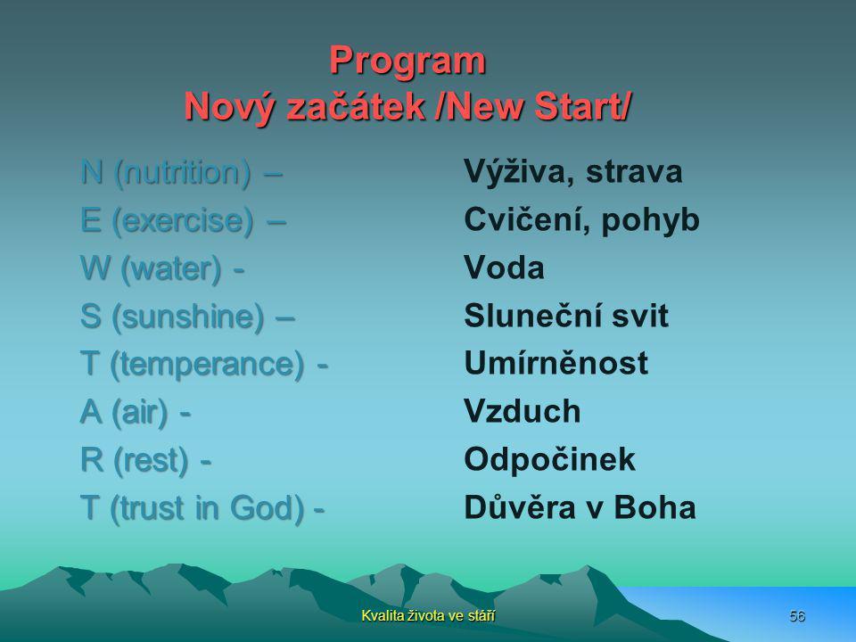 Program Nový začátek /New Start/