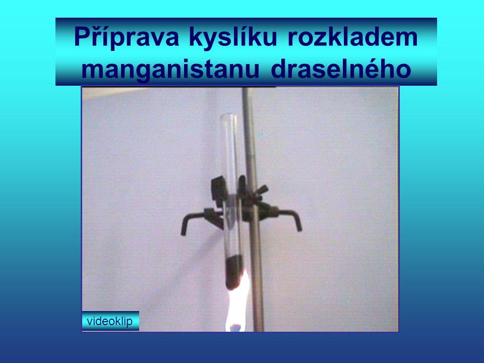 Příprava kyslíku rozkladem manganistanu draselného