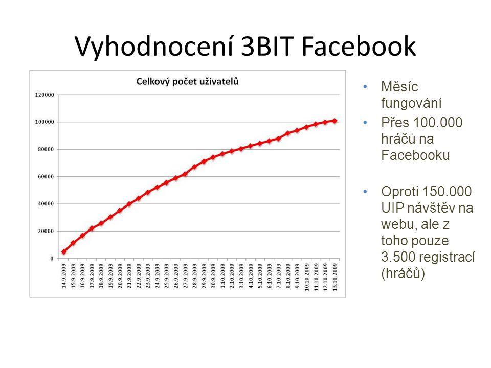 Vyhodnocení 3BIT Facebook