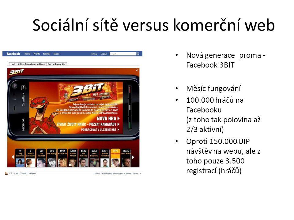 Sociální sítě versus komerční web