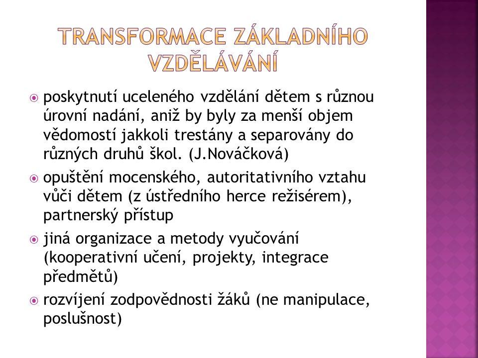 transformace základního vzdělávání