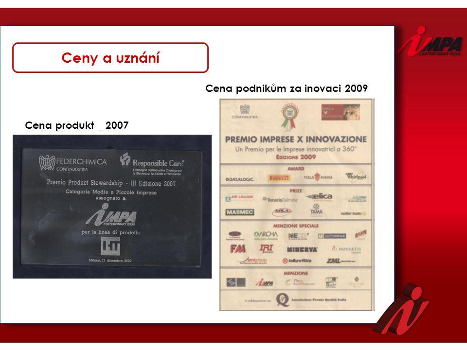 Ceny a uznání Cena podnikům za inovaci 2009 Cena produkt _ 2007