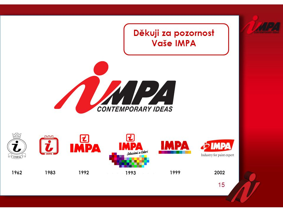 Děkuji za pozornost Vaše IMPA