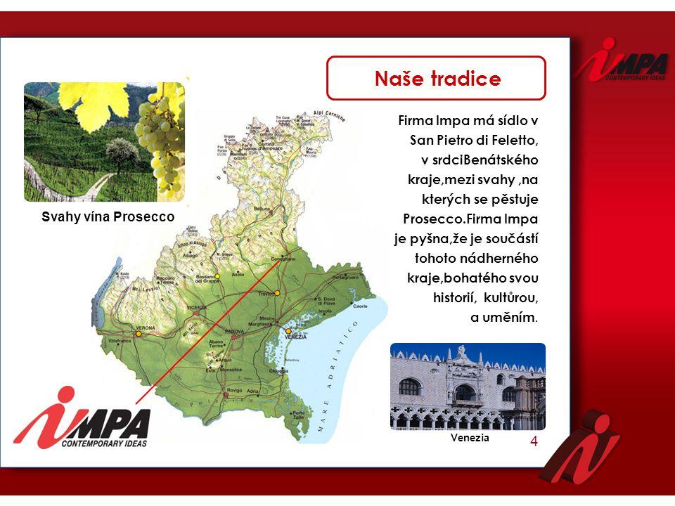 Naše tradice 4 Firma Impa má sídlo v San Pietro di Feletto,