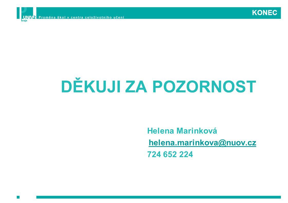 DĚKUJI ZA POZORNOST Helena Marinková helena.marinkova@nuov.cz
